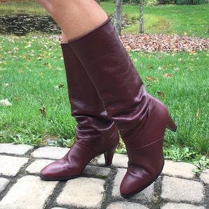 Joyce California leather heeled boots